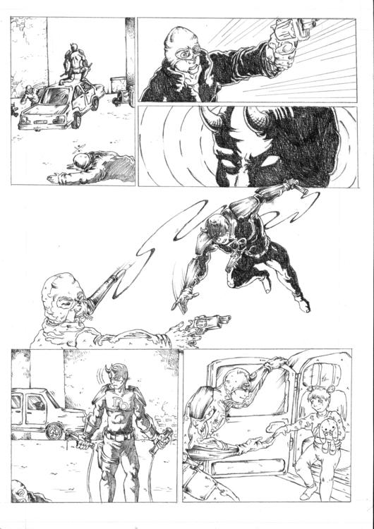 Daredevil Comic Sample Page 4 - illustration - feradami   ello