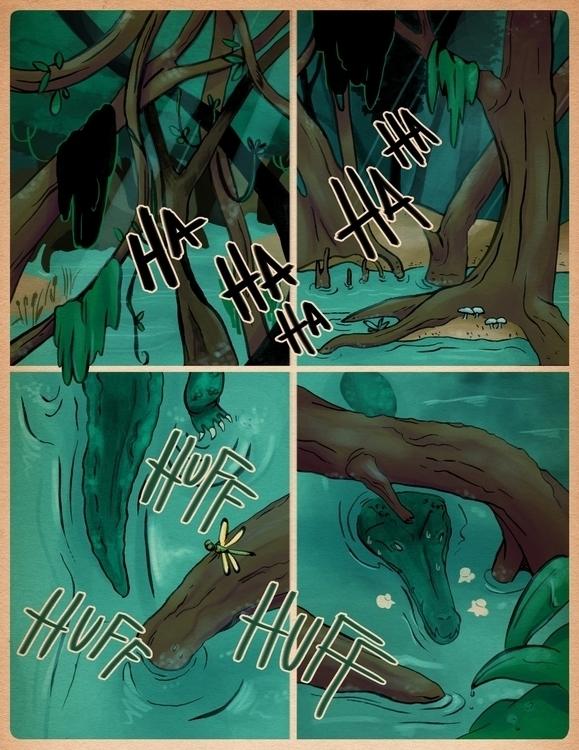 Page 1 - comics, original, illustration - guemoza   ello