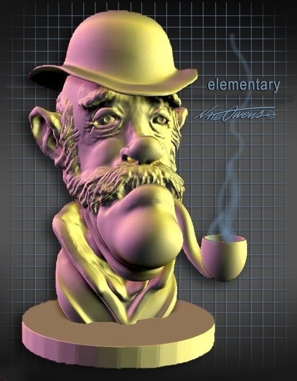 Elementary... digital sculpt - zbrush - nate-1924 | ello