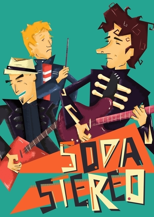 Soda Stereo - illustration, cerati - nfiasche | ello