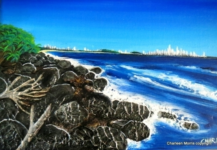 Burleigh Headlands Gold Coast A - charleenmorrisart | ello