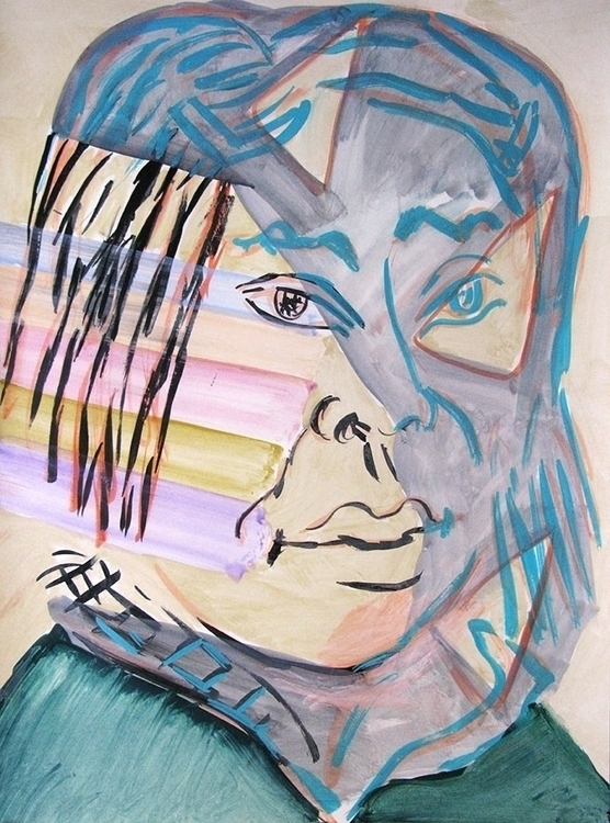 Gladys acrylic paper 2015 - portrait - frankcreber | ello