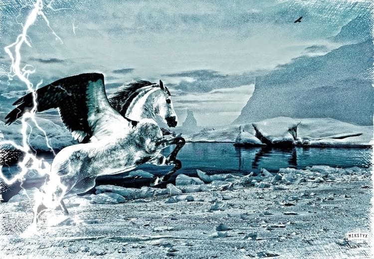 Pegasus - digitalart, pegasus, photography - mikstyx | ello