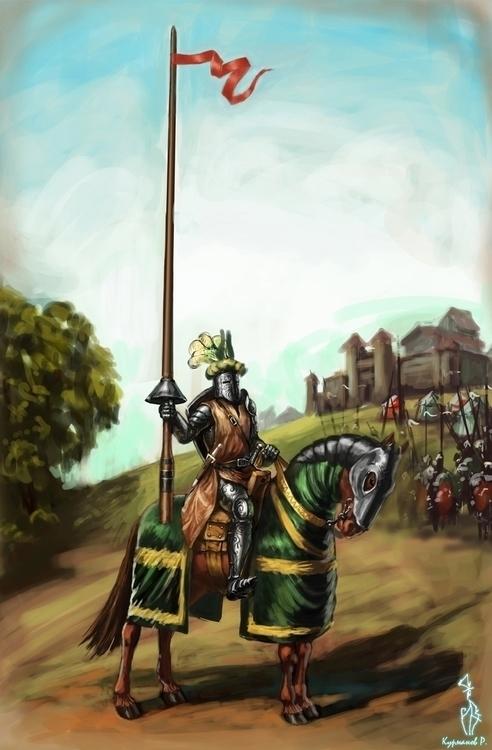 knight horse - illustration, conceptart - ruzvelt-1139 | ello