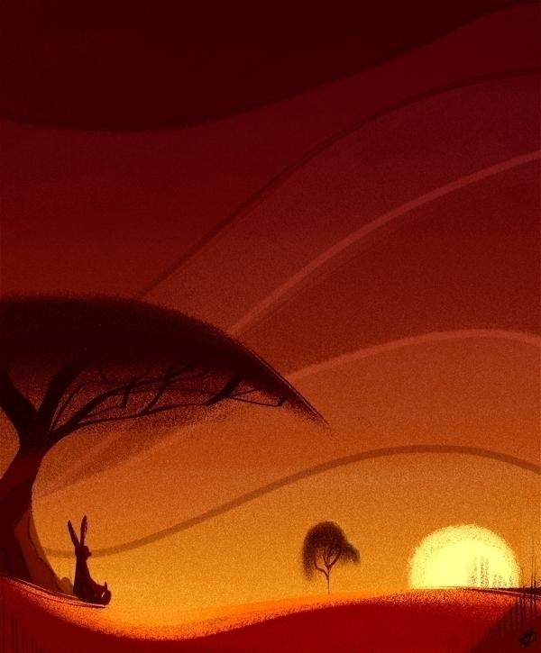 Watch Sunset - illustration, kangaroo - phamboola   ello