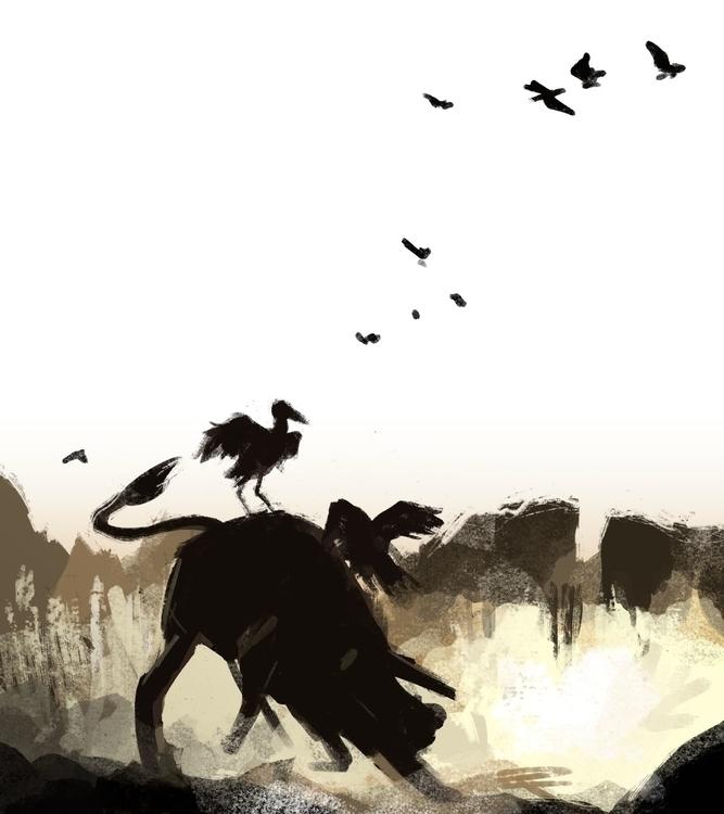 Rodeo - rodeo, bird, bison, spitpaint - flightlessbutstilltrying | ello