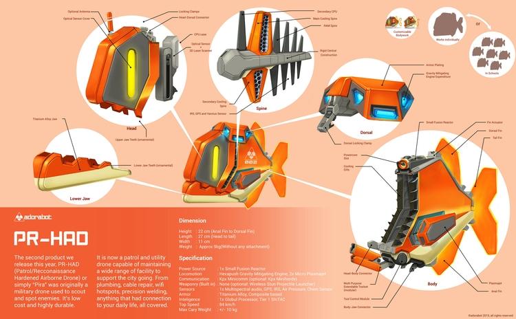 Pira, flying maintenance drone - kakadede | ello
