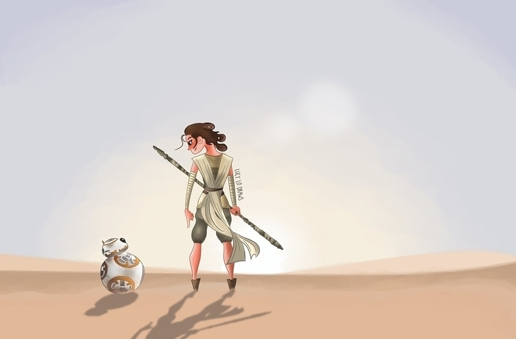 StarWars Force Awakens FanArt R - lucylodraws | ello