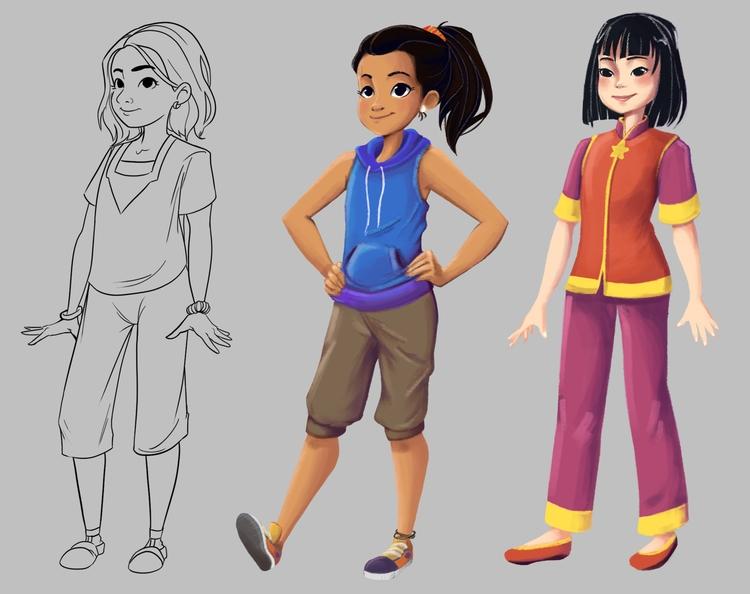Girls book launched xD - characterdesign - fishfranqz | ello