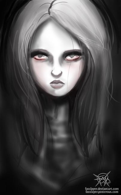 dark girl. Speedpainting - illustration - fasslayer | ello