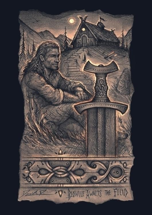 Beowulf Awaits - beowulf, viking - cedarlore | ello