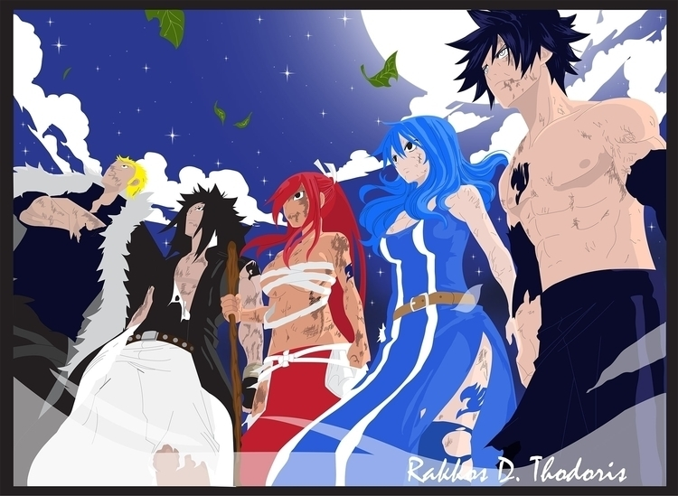 Team Fairy Tail Anime/Manga - illustration - thodoris91 | ello