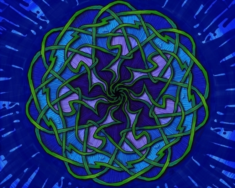 Flower Knot - knotwork, digitalart - crysodenkirk | ello
