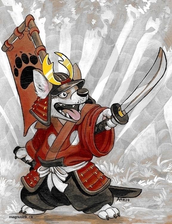 Corgi yojimbo - anthro, corgi, samurai - magnus-1542 | ello