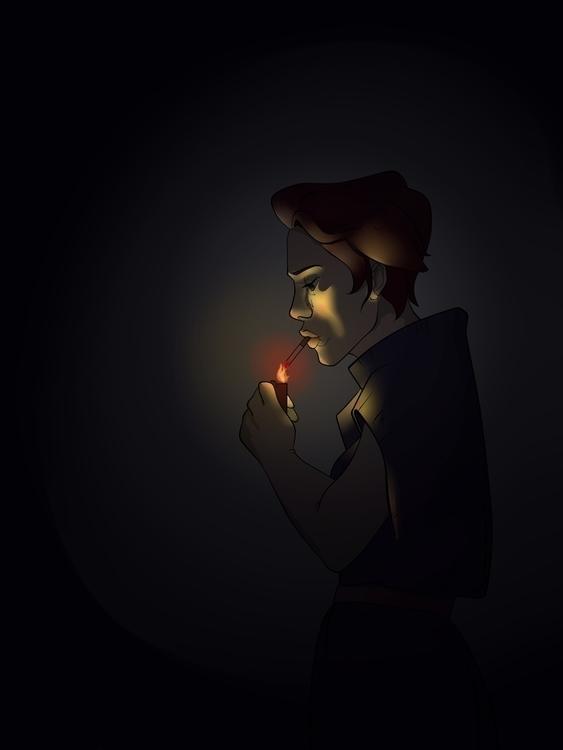 cigarette, lighting, light, ambiance - clarisse-1174 | ello