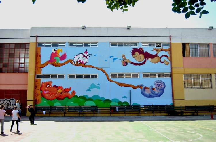 zoo school, 2014 - graffiti, mural - kaiman-6057 | ello