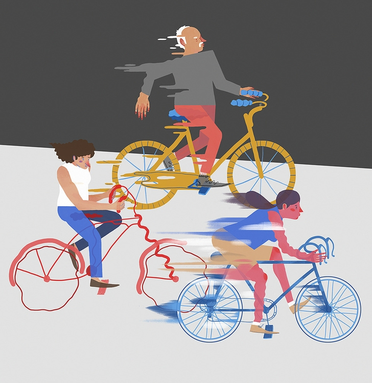 Cyclers Cycling Bicycles - illustration - tom-1220 | ello