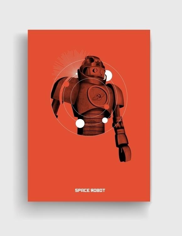 space robot - spacerobot, retro - cardula | ello