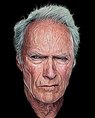 Clint Eastwood 2015 - illustration - pwilster | ello