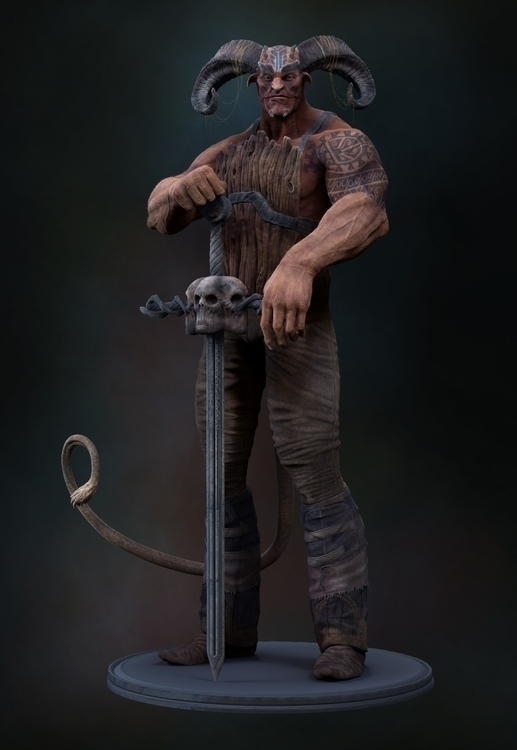Demon Guard - animation, 3d, characterdesign - baratha | ello