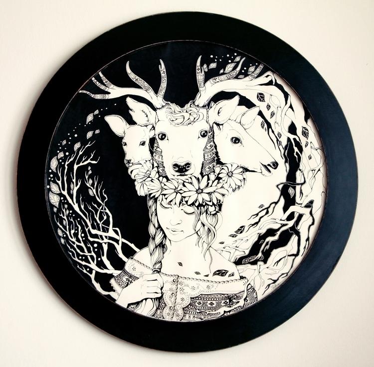 Charpatian Soul - illustration, ink - ioanaz   ello
