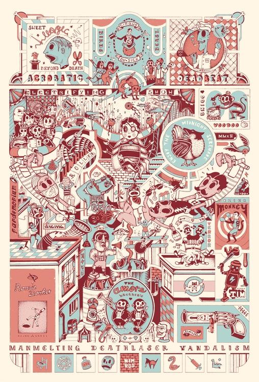 Cirque du Sick - illustration - 1upnimrod | ello