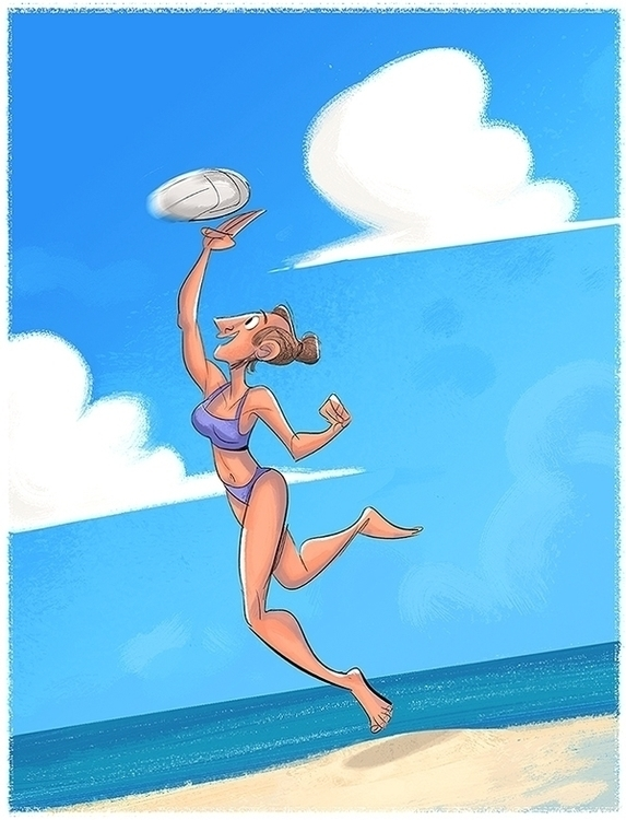 Summer fun - characterdesign, illustration - drawandestroy | ello