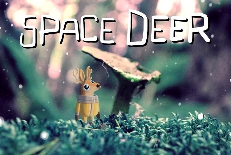 space, deer, photo, manipulation - indiana_jonas | ello