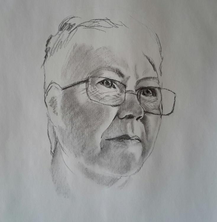Charcoal, Sketch, Portraiture - dawnlim   ello