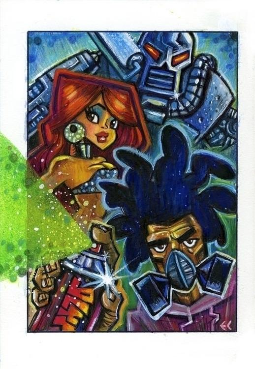 Glyf - graffiti, girl, robot - eddycrosby | ello