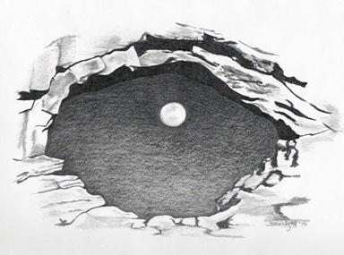 Moon View - drawing - brandyhouse   ello