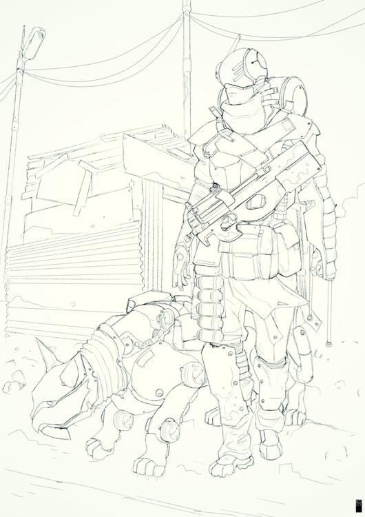 neoguerilla - sketch, sci-fi - edgy-8315 | ello