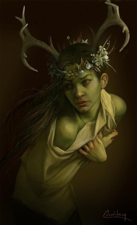 Persephone - characterdesign, conceptart - caitlinyarsky   ello