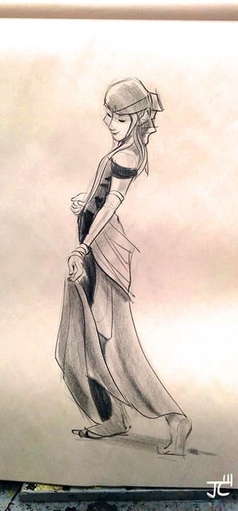 Dancer - lifedrawing, traditional - justinchan-1699 | ello