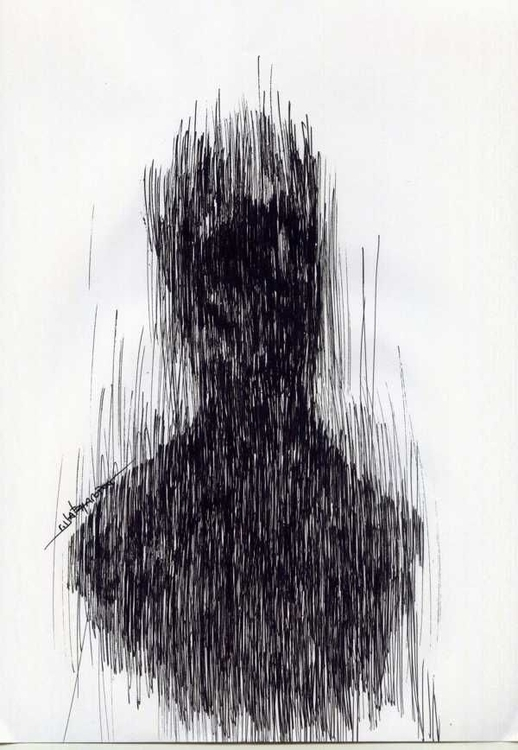 white - #drawing, black, ink, portrait - giorgoschatziagorou | ello