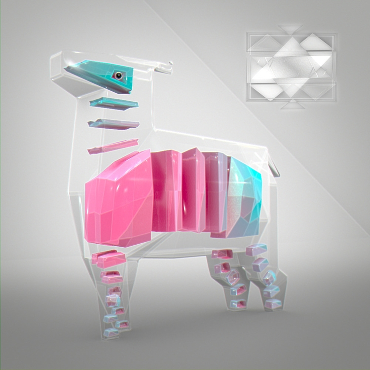 lowpoly, cow, animals - chafouinade | ello