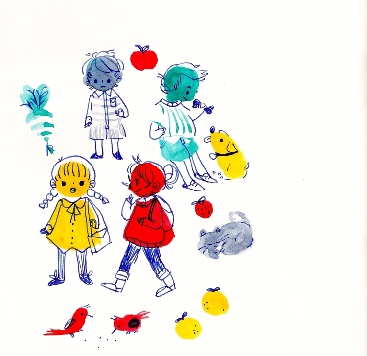 colorful - traditionalart, sketchbook - llyvn | ello