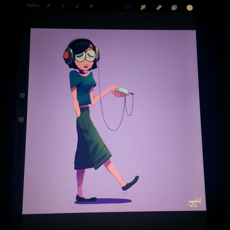 MP3 Girl - girl, characterdesign - justinchan-1699 | ello