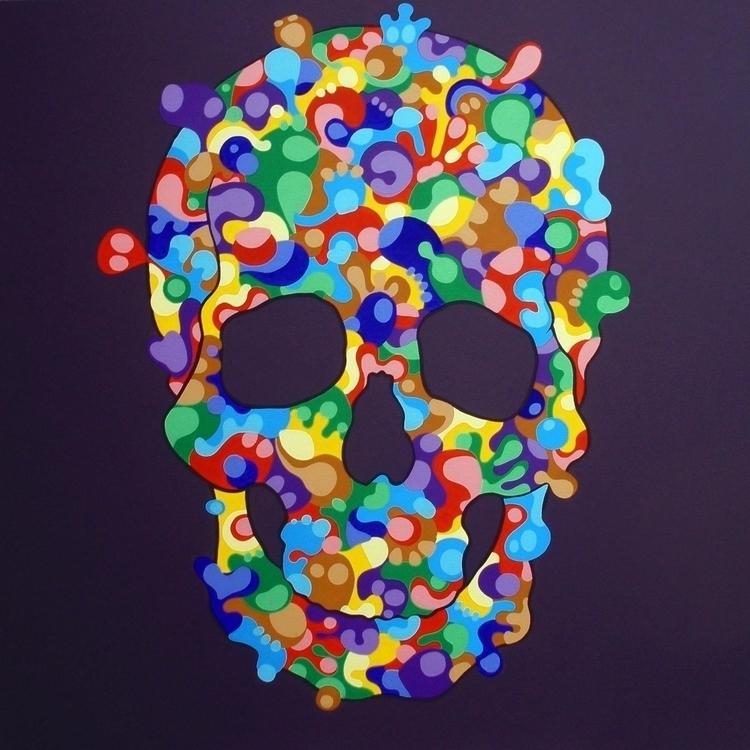 Skull - acrylic canvas 100x100  - criz-3761 | ello