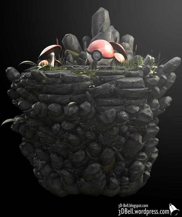 Tall grass - pokemon, gameart, design - 3dbell | ello