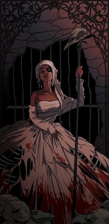 Voodoo Queen - voodoo, characterdesign - caitlinyarsky | ello