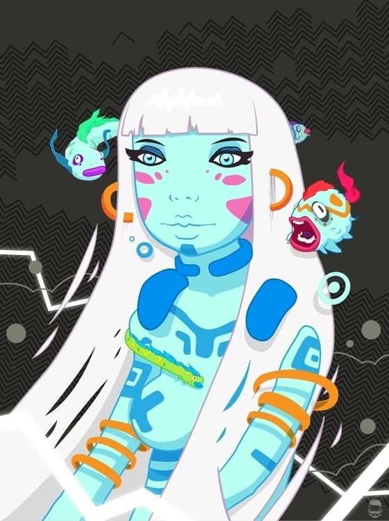 Dream - persephone, girl, illustration - alejandrodas | ello