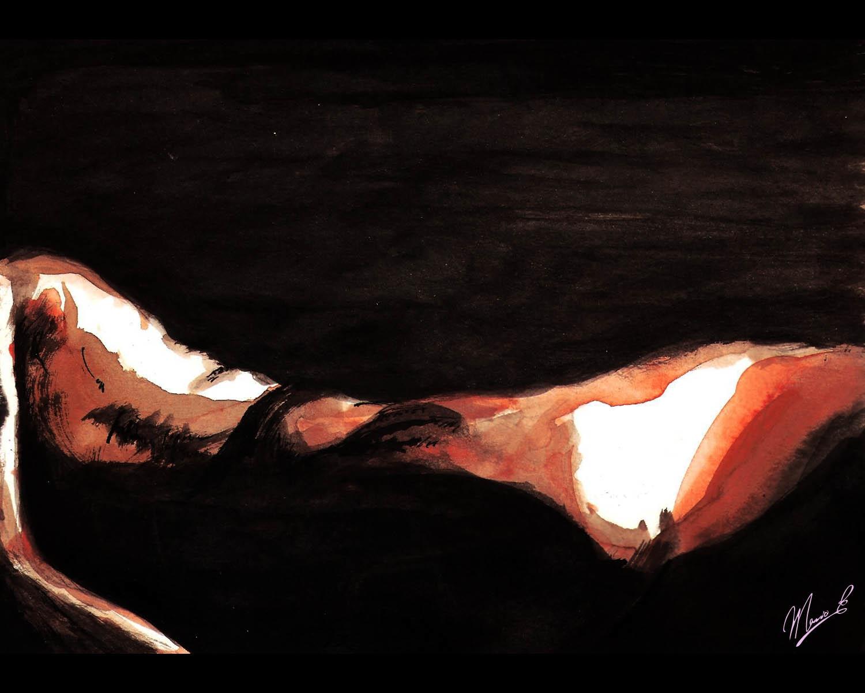 Cuerpo - illustration, painting - stvez | ello