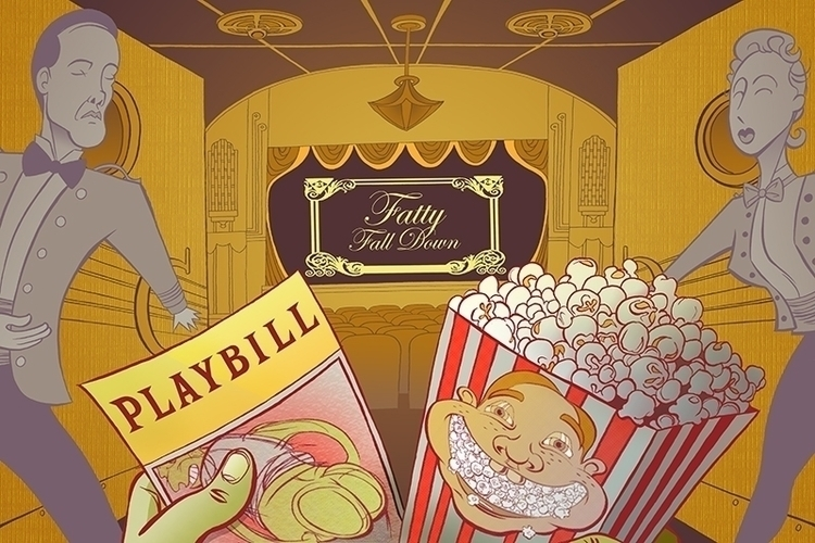 Fatty Fall Movie - #Illustration#theatre#Playbill - jerk-1055 | ello