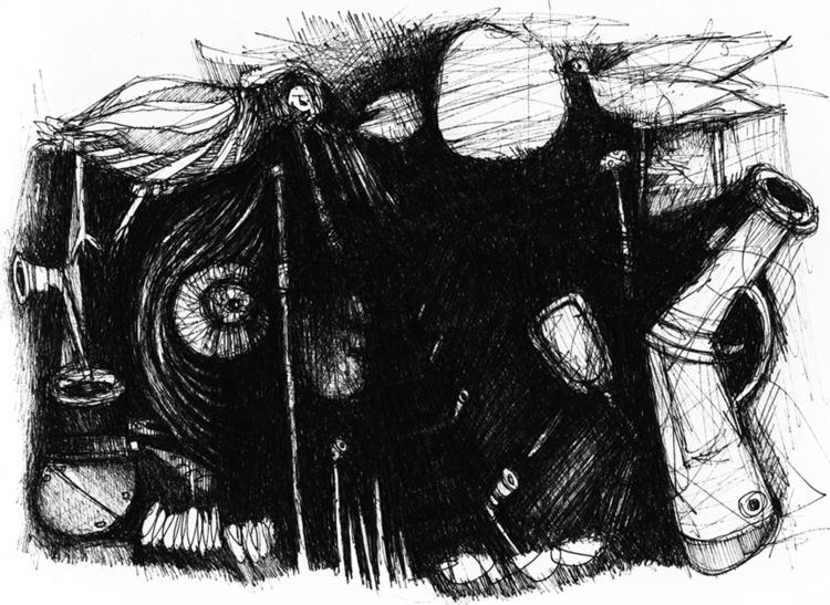 illustration, blackandwhite, dark - tychonikum | ello