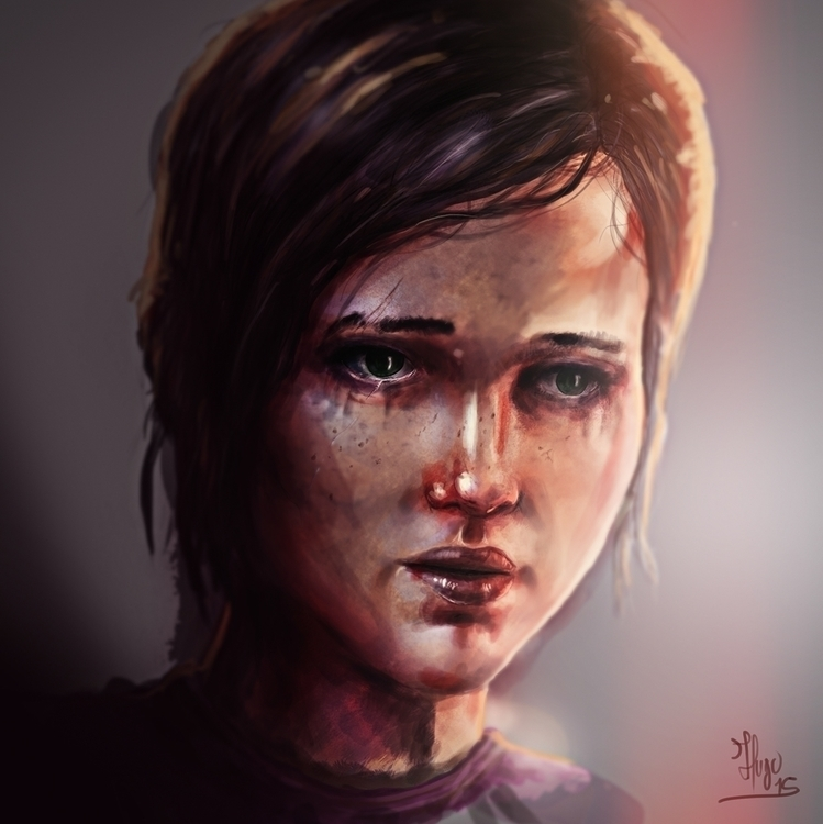 Ellie - illustration, digitalart - hugopoupart | ello