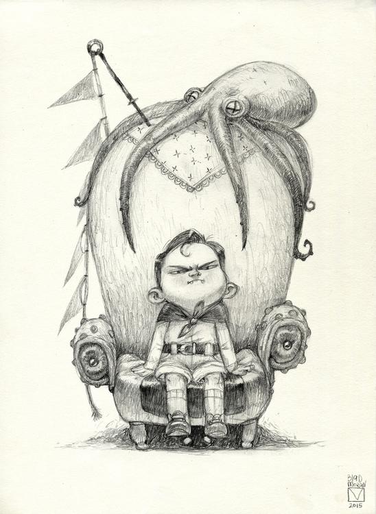 Sketchtober | 001 - painting, characterdesign - blad_moran | ello