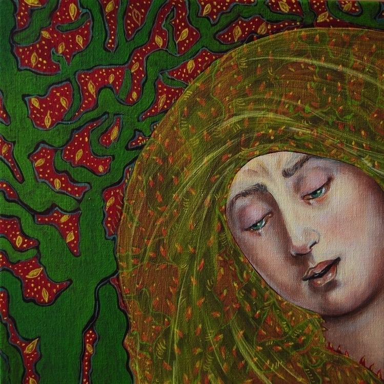 , painting, oiloncanvas, Lahermanadelavirgen - nicolemanieu | ello