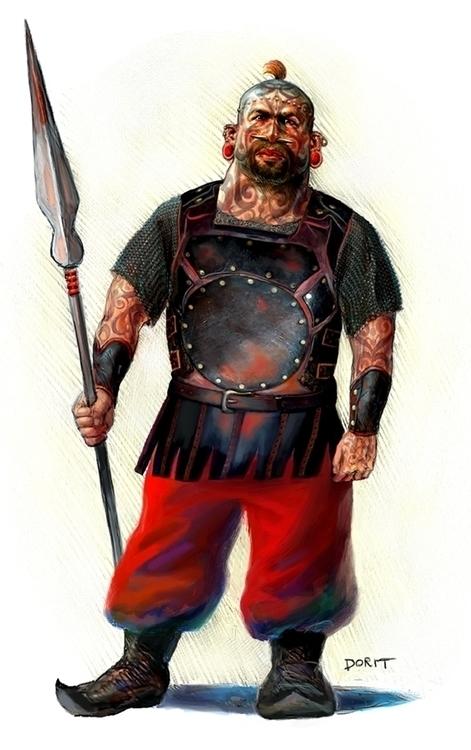 Barbarian - digitalillustration - doritart | ello
