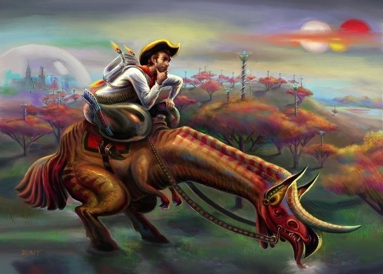 Space Cowboy - digitalillustration - doritart | ello